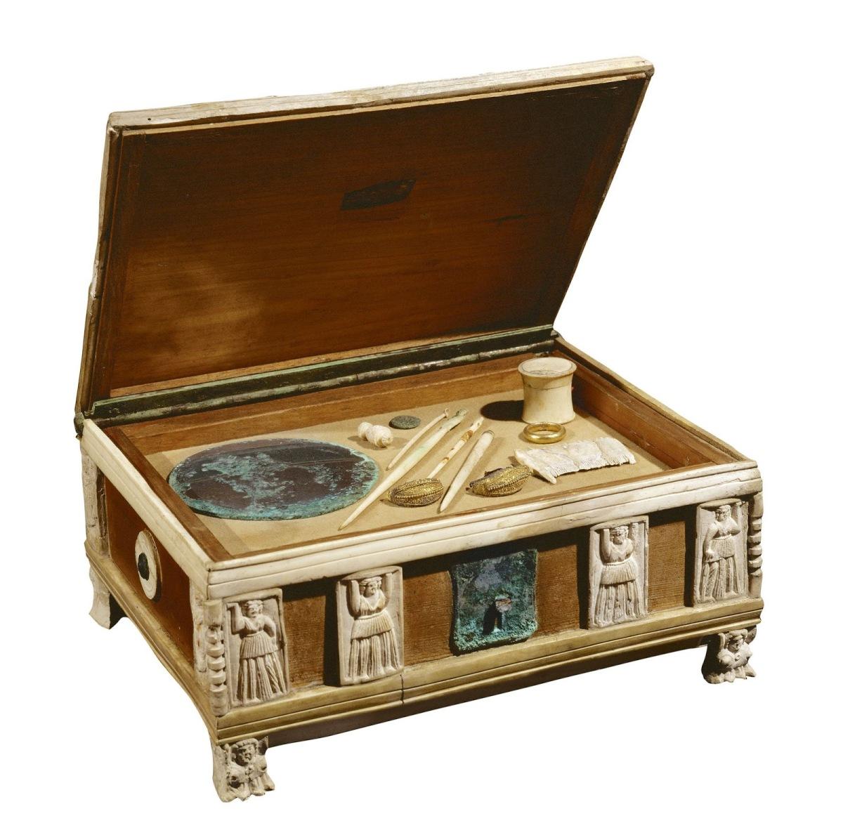 Objetos para guardar objetos en Roma Antigua