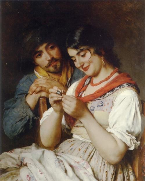 Eugene de Blaas, The Seamtress, 1884.