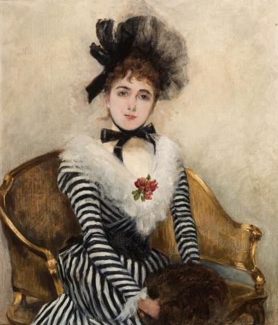 Retrato-de-Eugenia-Huici-de-José-Tomás-Errázuriz-Colección-particular-Óleo-sobre-tela-37x325-cm