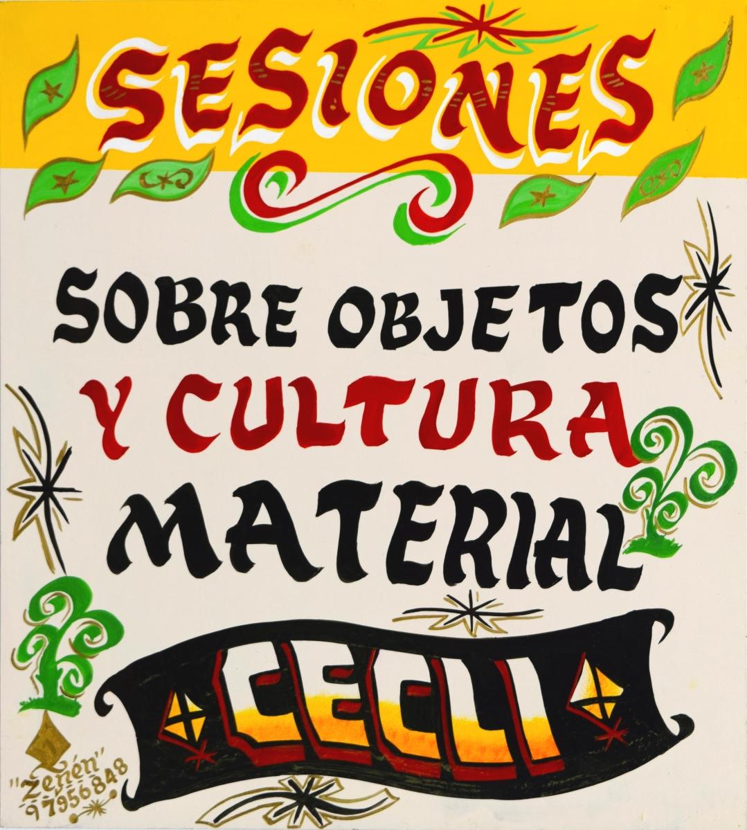 Sesiones sobre objetos y cultura material