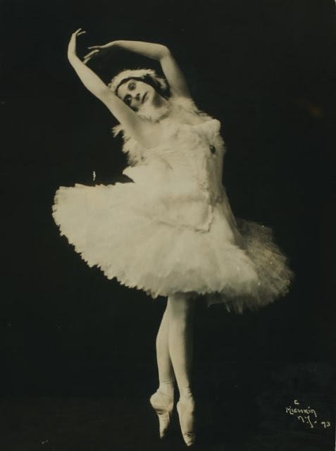 Anna Pavlova, costumed as The dying swan (1)