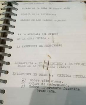 Agendas de trabajo escritural. Museo Gabriela Mistral de Vicuña.