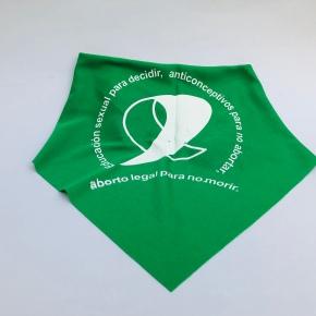El pañuelo es verde porque significa vida y vivas nosqueremos