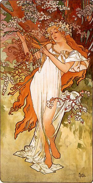 Alfons Mucha, La primavera, 1896