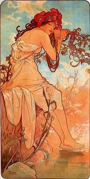 Alfons Mucha, El verano, 1896.